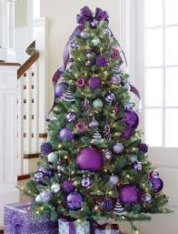 stunning christmas tree decorating ideas purple christmas tree