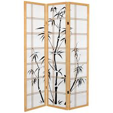 home decorators collection 5 83 ft natural 4 panel room divider
