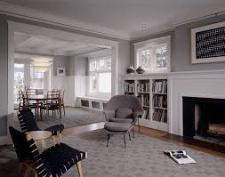 seattle slate gray paint color living room traditional with frame
