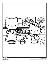 hello kitty and flowers coloring page h u0026 m coloring pages
