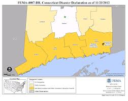 Connecticut State Map by Connecticut Hurricane Sandy Dr 4087 Fema Gov