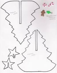 card sized paper christmas tree template 3d paper free
