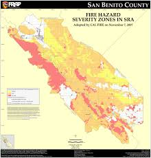 Map Of Napa Valley Cal Fire San Benito County Fhsz Map