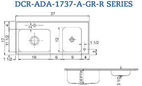 ada kitchen sink requirements ada sink base height sink ideas