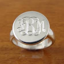 monogramed rings monogram ring ideas collections