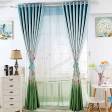 green blackout printed butterfly patterns country curtains
