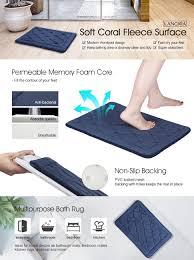 amazon com langria bath mats memory foam bathroom rugs water