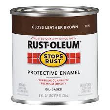 shop rust oleum stops rust leather brown gloss oil based enamel