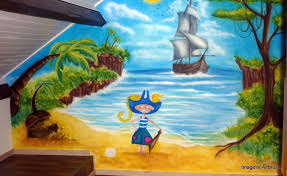 fresque chambre fille fresque murale chambre fille fresque murale dessine sur le