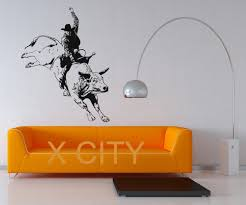 online get cheap cowboy wall decor aliexpress com alibaba group rodeo cowboy bullfight decal wall art vinyl sticker home living room dorm office interior removable decor