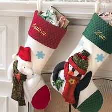 Christmas Stocking Decorations Hanging Christmas Stockings For Holidays Family Holiday Net