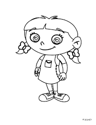 smiling annie einsteins coloring pages hellokids