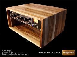 Audio Rack Case 19 Inch Walnut Racks For Audio Gear By Mixingtable Com
