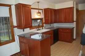 kitchen remodeling ideas hickory cabinets with built crown refinishing kitchen cabinets image cabinet refacing impressive ideas for low cost gorgeous brown painted best