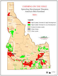 Map Of Idaho State by Farming On The Edge State Maps American Farmland Trust