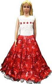 purple princess red and white floor length floral gown for the