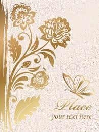 gold flowers gold decorative floral background colorful vector illustration
