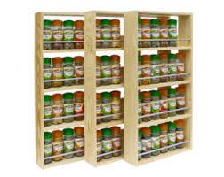 Freestanding Designer Shelves by Wooden Spice Rack Etsy
