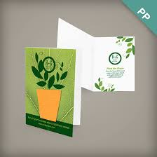 sided small eco greeting card with shape plantable seed