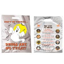 personalized halloween treat bags don u0027t be tricked drugs are no treat reflective trick or treat bag