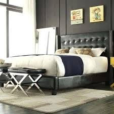 skyline furniture velvet king tufted wingback bed light gray tufted wingback king bed queen size black faux leather bed with