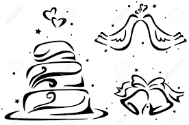 wedding cake drawing wedding stencil featuring a wedding cake wedding bells and