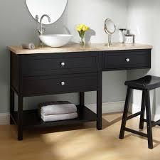 White Bathroom Vanity With Vessel Sink Blackssel Sink Vanity Bathroom With Wavy Stone Marble White 52