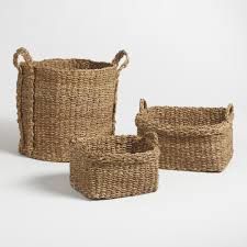 Wicker Floor Vase Baskets Decorative Storage U0026 Wicker Weave Baskets World Market
