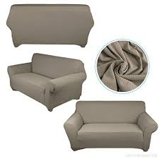 canapé extensible housse de canapé extensible 140 à 170cm 2 places beige en
