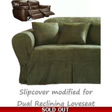 can you put a slipcover on a reclining sofa out of stock reclining slipcovers