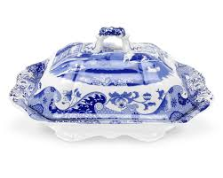 spode blue italian vegetable dish and cover 12