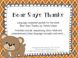says thanks speech and language activities thanksgiving