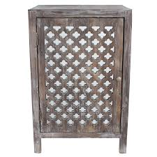 Grey Accent Table Amazon Com Décor Therapy Quatrefoil End Table With Mirror Accent