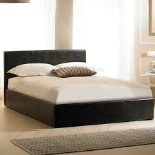 madrid brown ottoman faux leather bed frame