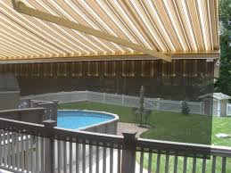 Installing Retractable Awning Motorized Retractable Awnings With Drop Valance Screen Fabric By