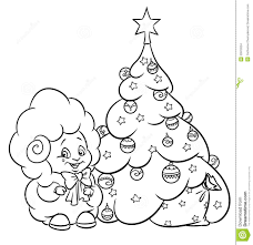 christmas tree ornaments coloring pages christmas tree coloring