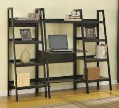 Bookcase With Ladder Ikea by Furniture Home Manhasset Slatted Leaning Bookcase Modern Elegant