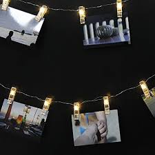 battery powered hanging l cylapex photo clip string lights 9 8ft with 20 leds light string