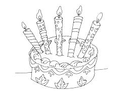 Coloriage gâteau danniversaire à imprimer