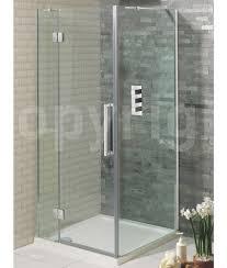 800 Pivot Shower Door by Simpsons Ten Frame Less Hinged Shower Door 800mm With Inline Panel