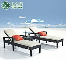 outdoor wicker chair balcony lounge chairs lying bed beach hotel
