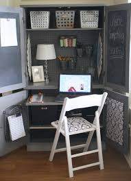 Computer Desk Armoire by Plain Armoire Into Office Space