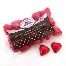 chocolate heart candy all milk chocolate hearts by thompson candy co