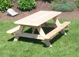 Picnic Table With Benches Western Red Cedar Kids Picnic Table From Dutchcrafters