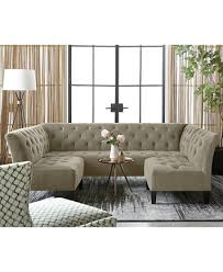 Macys Tufted Sofa by Arielle Tufted Fabric Ottoman Created For Macy U0027s Furniture Macy U0027s