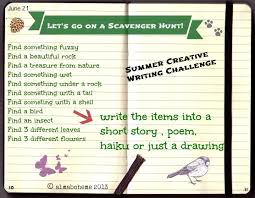 scavenger hunt for summer solstice creative writing challenge
