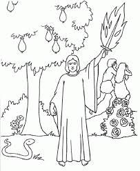 adam eve bible story colouring page god doesnt hand out the
