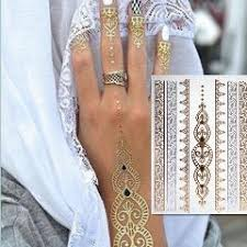 body paint taty glitter gold tattoo stickers tattooing metalic