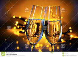 new years chagne flutes two chagne flutes clink glasses at christmas or new year s p