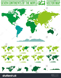 Map Of The 7 Continents Continents World Map Vector Full Scalable Stock Vector 147709223